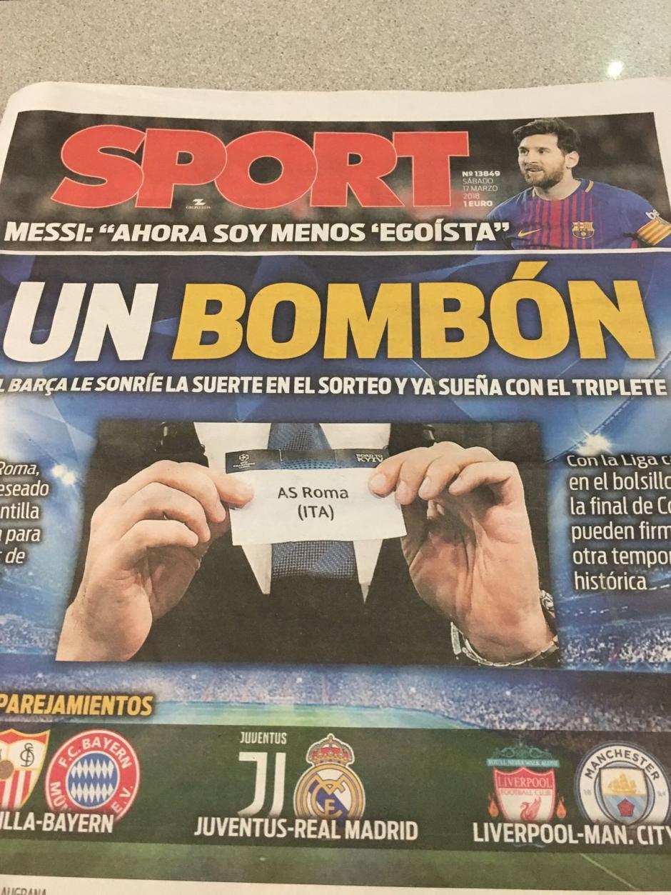 """""""Un bombón"""", decían los medios españoles de la Roma. (Foto: Ok Diario)"""