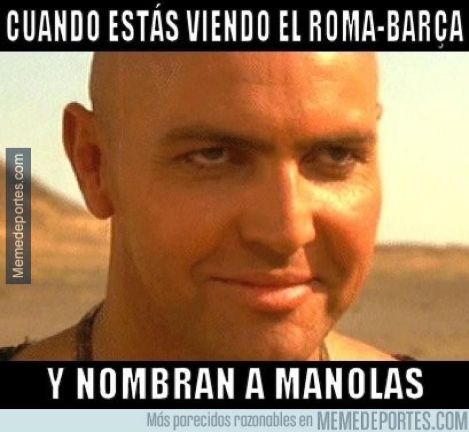 Cuando nombran a Manolas. (Foto: Ok Diario)