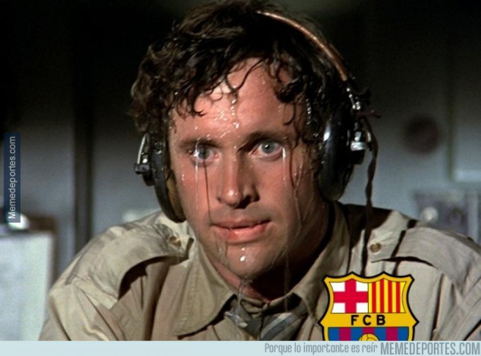 Los seguidores de Barcelona sufriendo por la derrota. (Foto: Ok Diario)