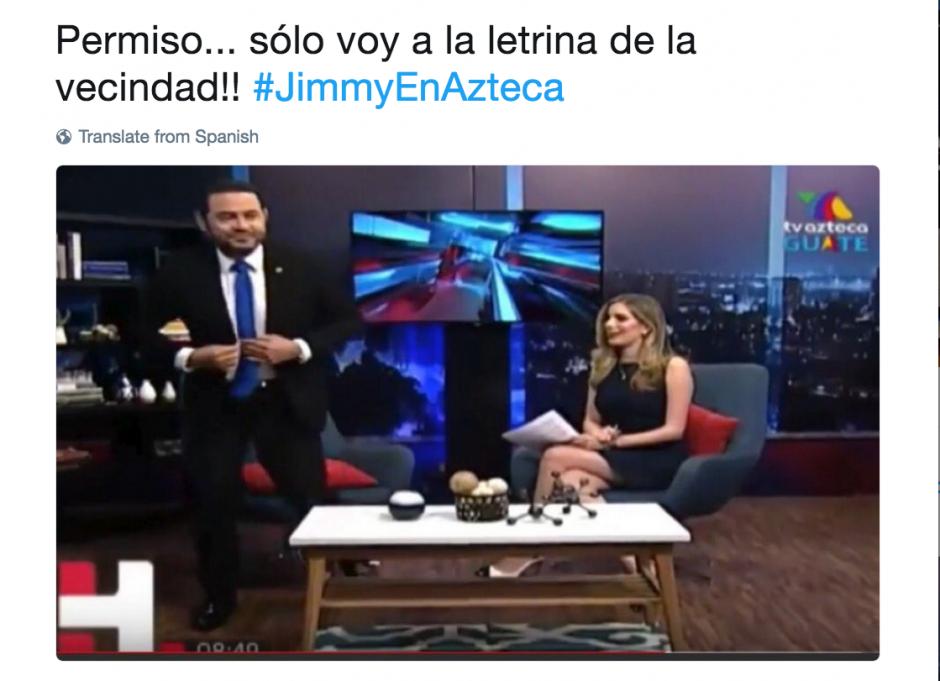 La presentadora optó por agradecer a Morales su asistencia. (Foto: @pplopez2911y/Twitter)