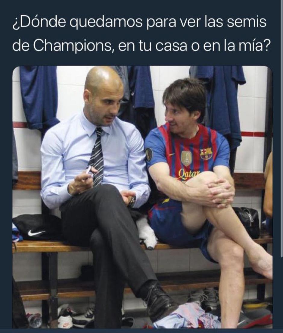 Guardiola y Messi se ponen de acuerdo para ver las semis de Champions. (Foto: Ok Diario)