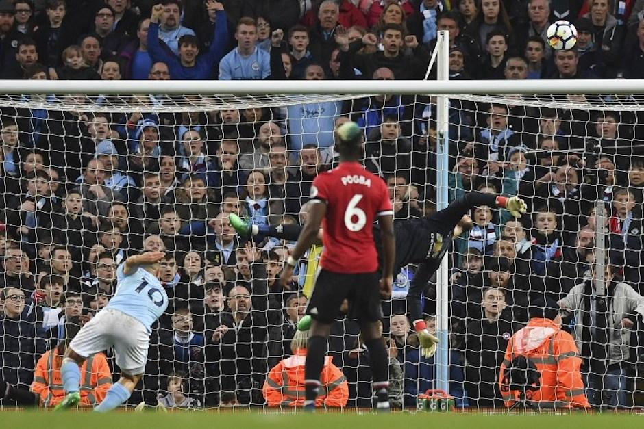 Paul Pogba venciÃ?³ en dos ocasiones la porterÃ?a del City el pasado fin de semana. (Foto: AFP)