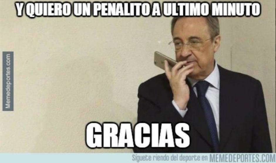 El presidente del Real Madrid fue objeto de burlas. (Foto: twitter)
