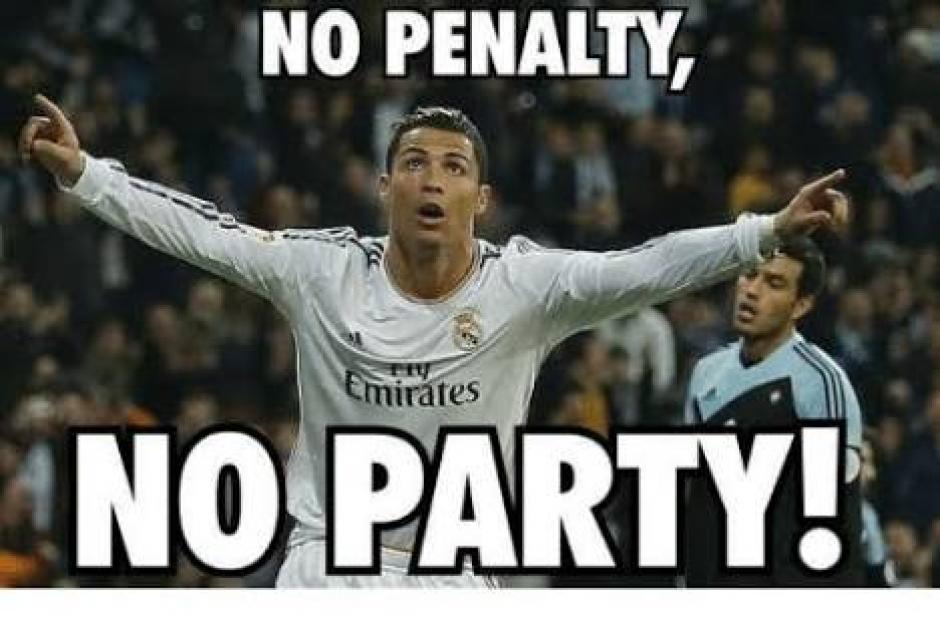 Cristiano Ronaldo volvió a marcar de penal y los aficionados no lo perdonaron. (Foto: twitter)
