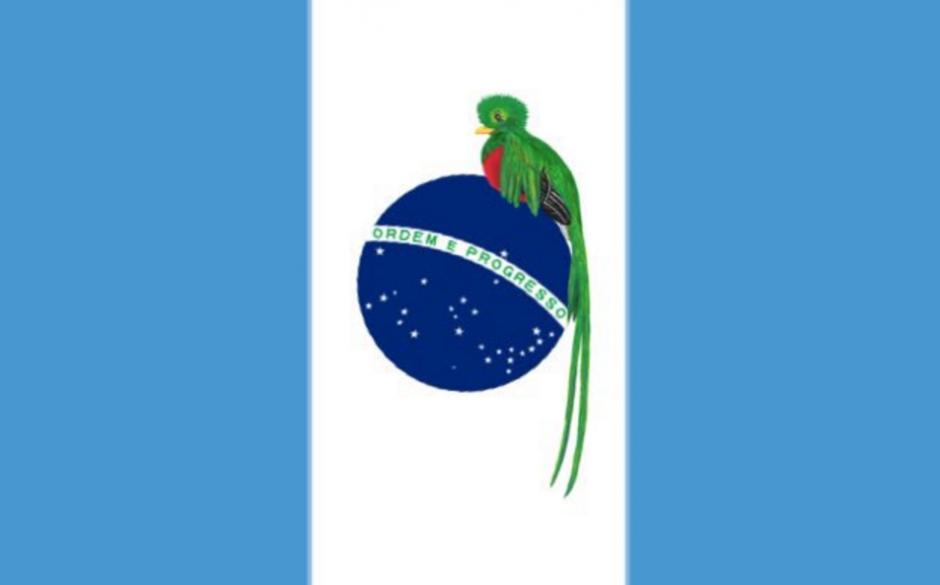 Esta sería la nueva bandera de Guatemala. (Foto: captura de Twitter)