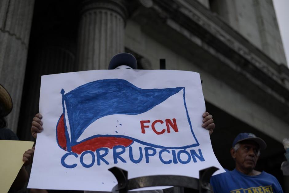 Así protestó la Plaza contra FCN Nación. (Foto: Wilder López/Soy502)