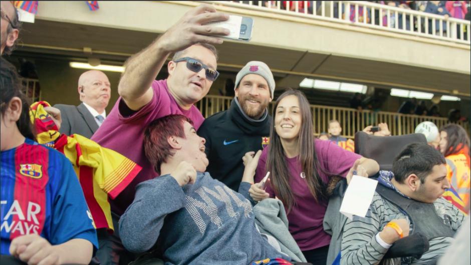 Lionel Messi ha sido uno de los más esperados para sacarse una foto. (Foto: FC Barcelona)