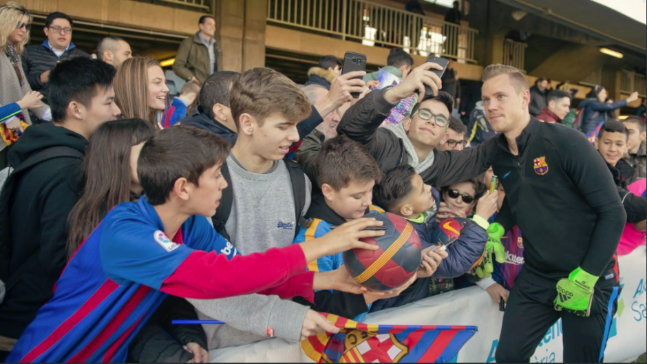 Mar ter Stegen también fue uno de los más solicitados. (Foto: FC Barcelona)