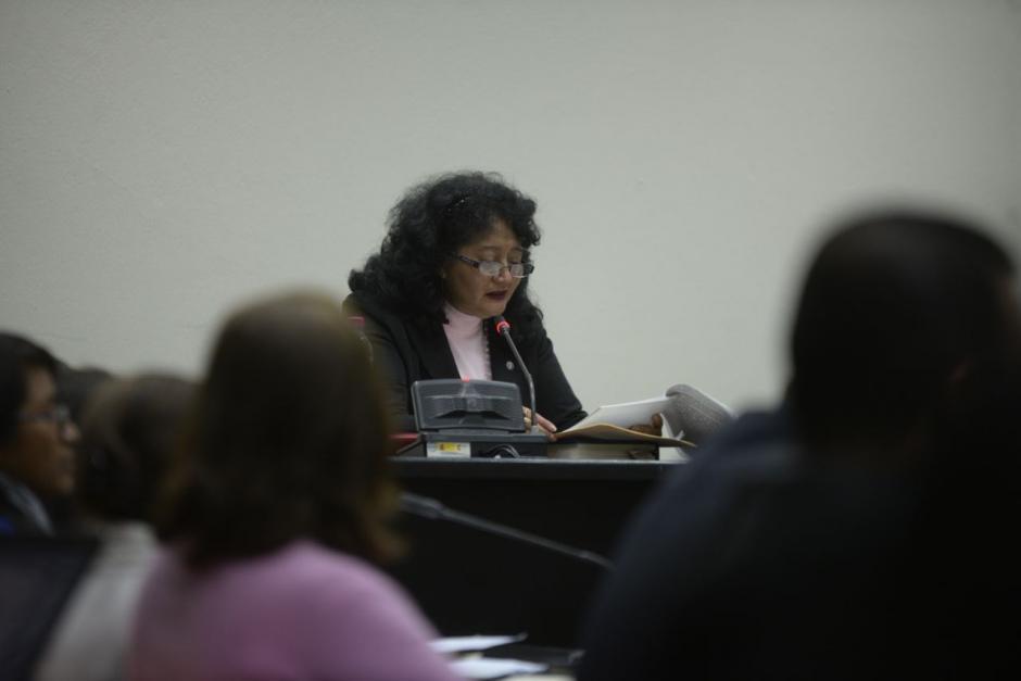 La jueza Yassmín Barrios preside el Tribunal que dictó la sentencia por el caso Migración. (Foto: Wilder López/Soy502)
