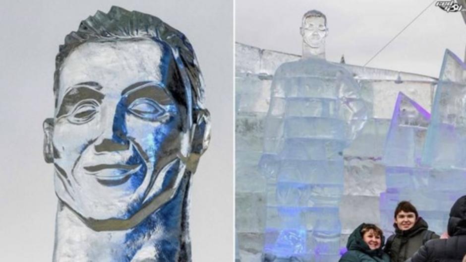 Los fans de CR7 no están muy convencidos con la estatua de hielo en Rusia. (Foto: AS)