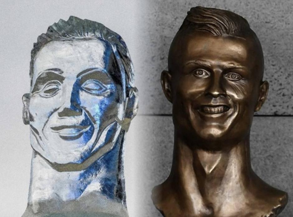 Hace un tiempo otra estatua de Cristiano en Portgual provocó risas y memes. (Foto: Instagram)