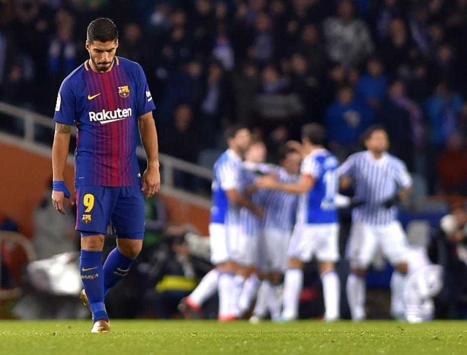 La Real Sociedad había puesto contra las cuerdas al Barça en el primer tiempo. (Foto: AFP)