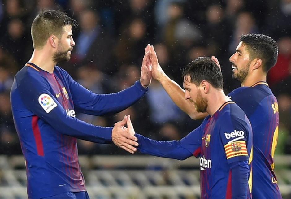 Messi apareció en la última parte del partido. (Foto: AFP)