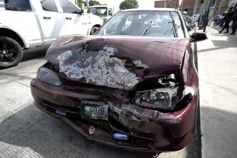 Así quedó el vehículo con reporte de robo. (Foto: Wilder López/Soy502)