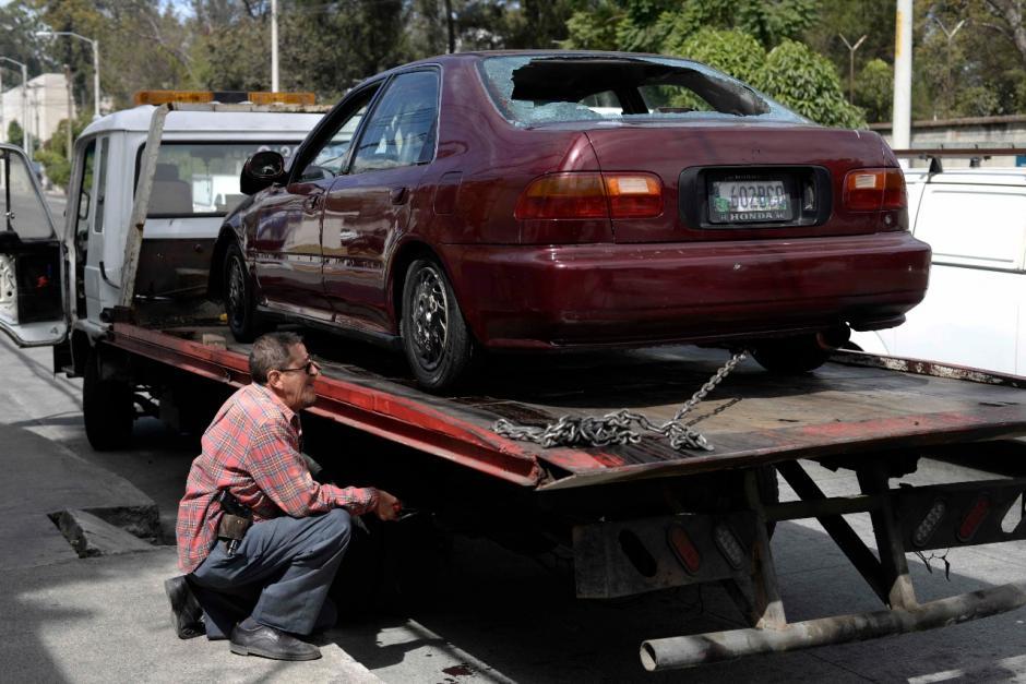 Los obstáculos de la vía ya fueron retirados. (Foto: Wilder López/Soy502)