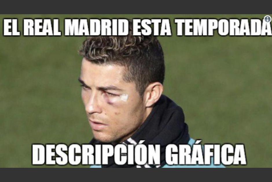 Descripción gráfica del Real Madrid eliminado en la Copa del Rey. (Foto: Twitter)