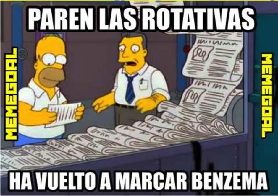 Por fin anotó Karim Benzema. (Foto: Twitter)