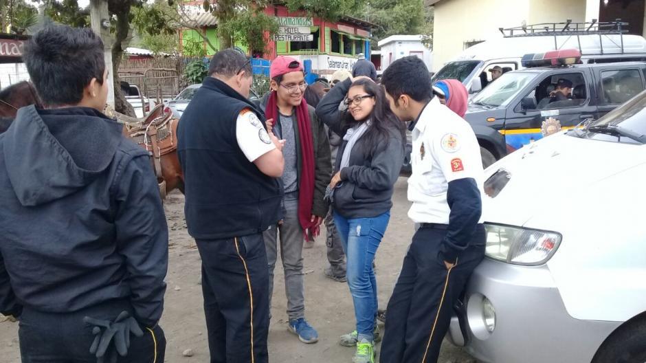 Dos de los jóvenes son guatemaltecos y el otro de nacionalidad salvadoreña. (Foto: Bomberos Voluntarios)