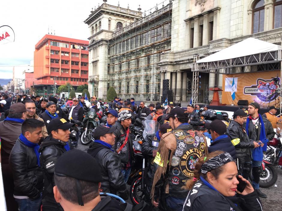 Miles de motoristas partieron este sábado de la zona 1 capitalina rumbo a Esquipulas. (Foto: José Miguel Castañeda/Soy502)