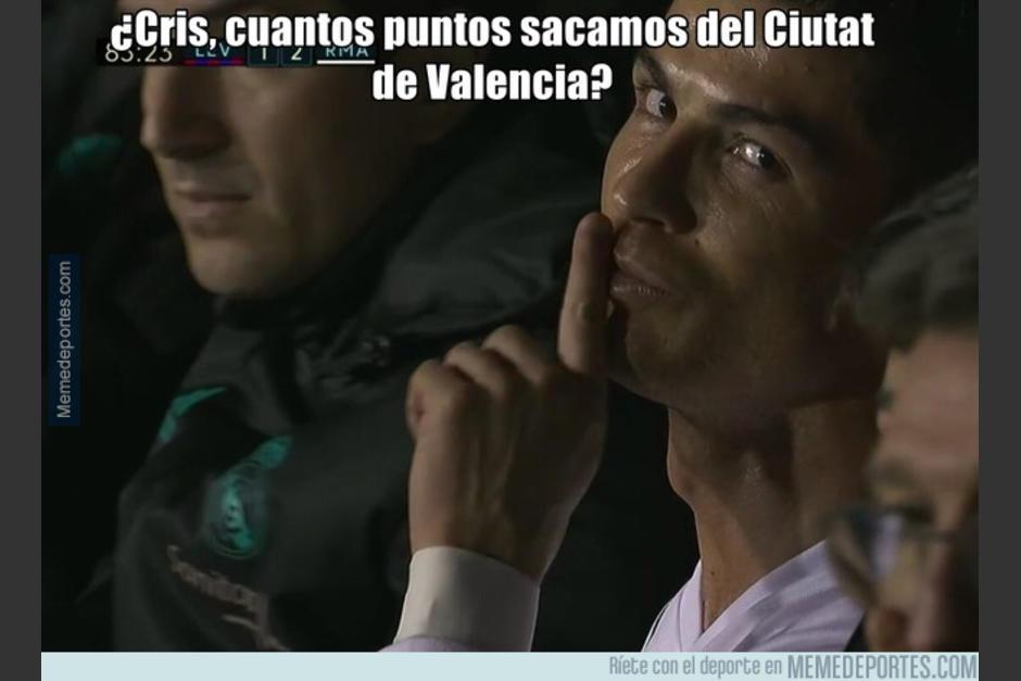 El Real Madrid no pasó del empate ante el Levante. (Foto: memedeportes.com)