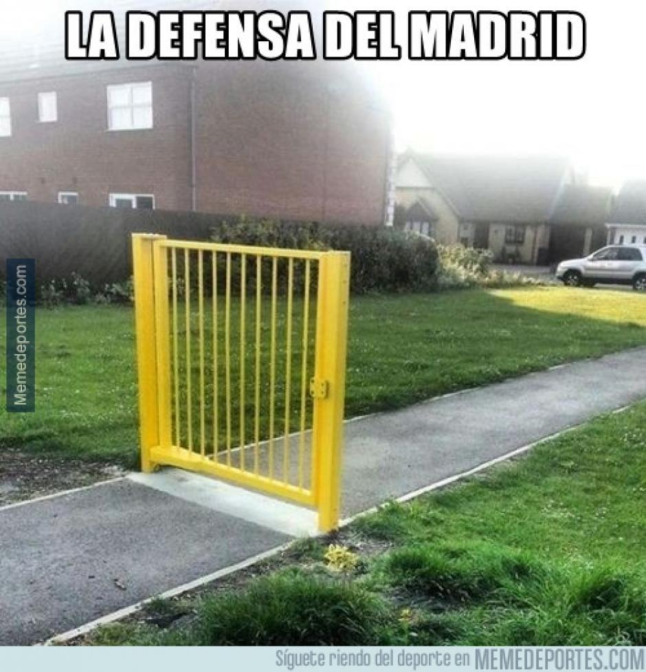La defensa del Real Madrid sufrió ante uno de los coleros de la Liga española. (Foto: memedeportes.com)
