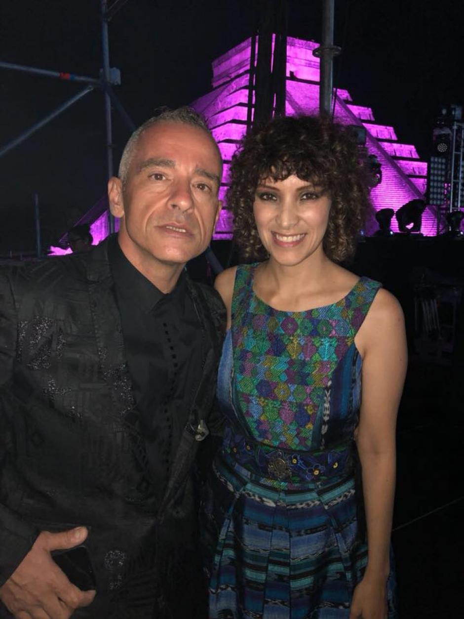 Eros Ramazzoti fue parte de la gala. (Foto: Gaby Moreno oficial)
