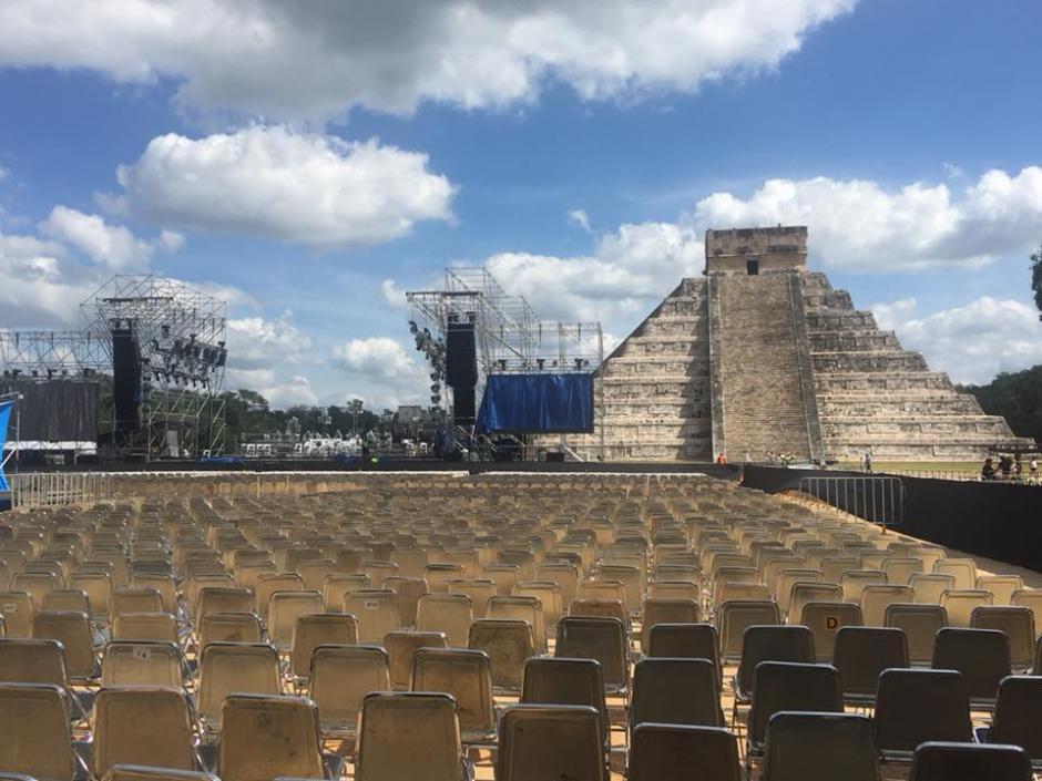 Chichén Itzá, en México, fue el lugar donde se celebró el concierto. (Foto: Gaby Moreno)