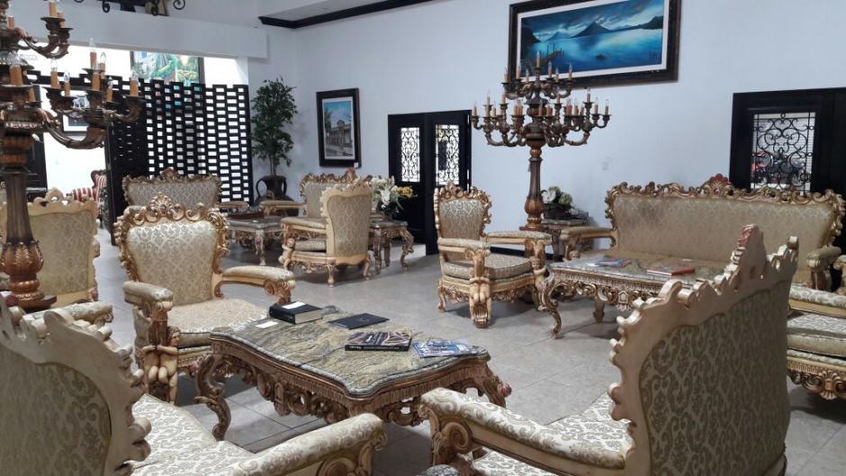 """Vista de uno de los ambientes de la """"Casa Blanca"""" de Baldizón. (Foto: Soy502)"""