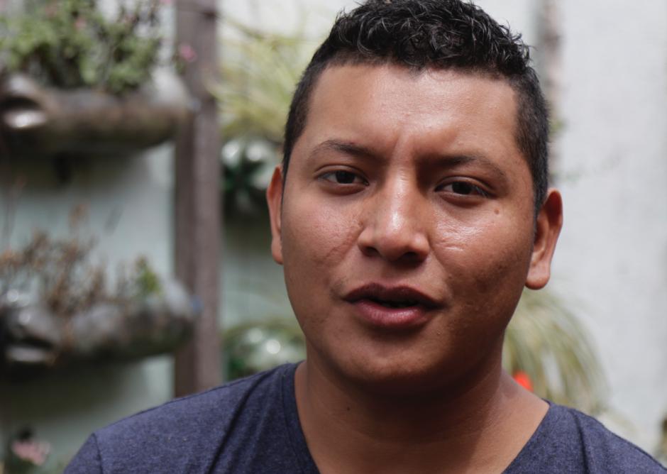 El joven de El Porvenir se separó de su familia durante la tragedia. (Foto: Alejandro Balán/Soy502)