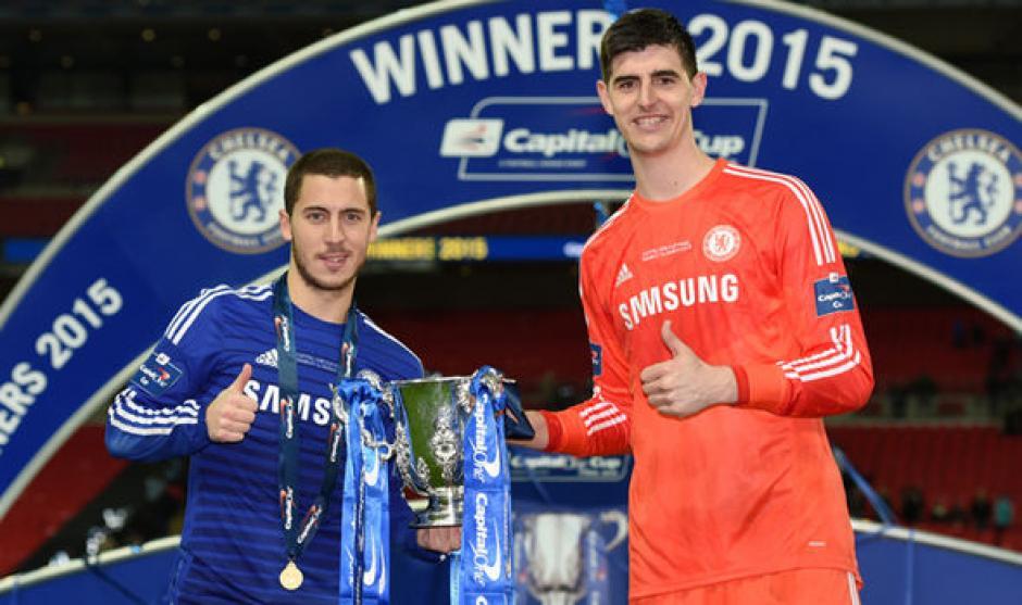 Chelsea hace millonario pedido al Real Madrid por Hazard y Courtois. (Foto   AFP 40eec28a0a0c9