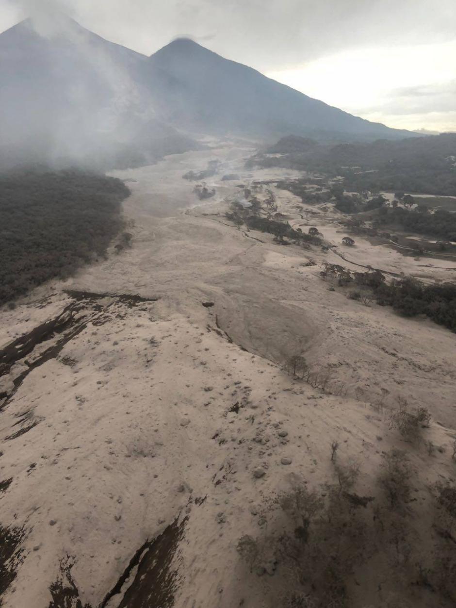 El lugar fue enterrado por completo por el material volcánico. (Foto: Soy502)