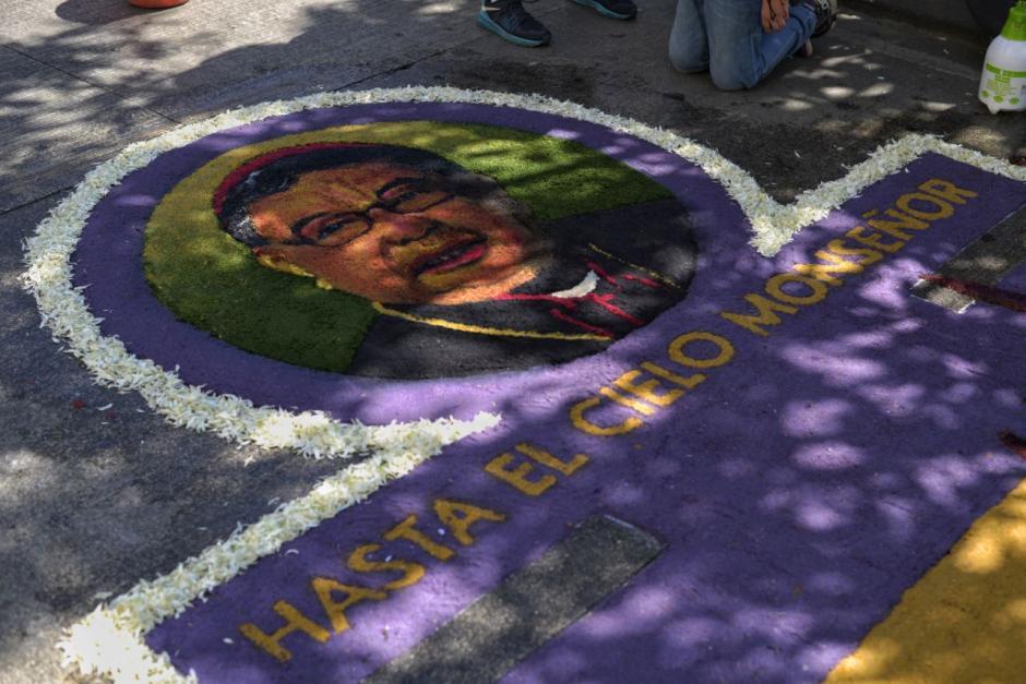 La alfombra tenía diseños únicos que la hicieron más vistosa. (Foto: Wilder López/Soy502)