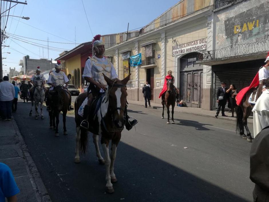 Los caballos fueron montados por una centuria romana. (Foto: Wilder López/Soy502)