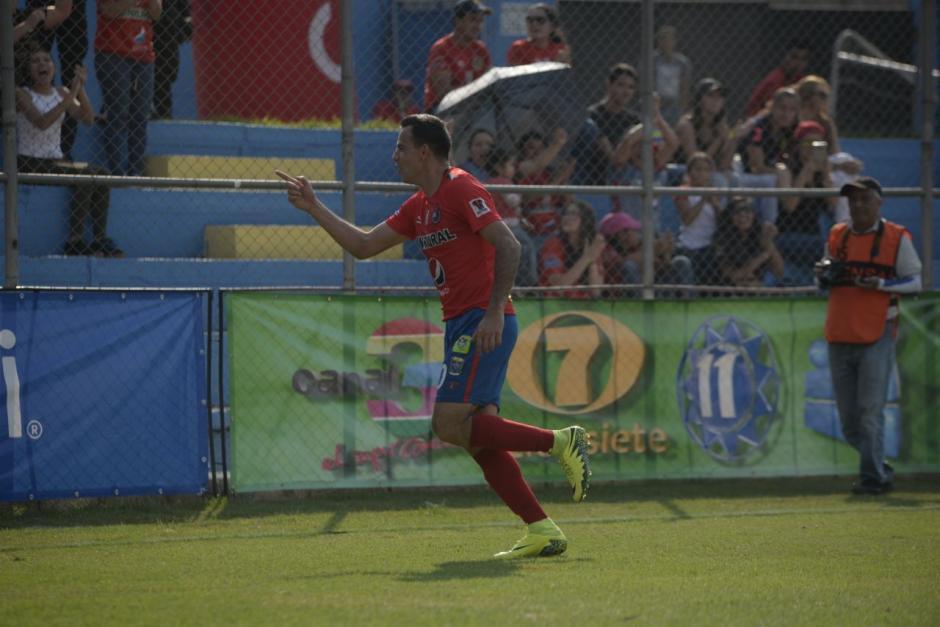 Marco Pablo Pappa anotó el primero para Municipal. (Foto: Wilder López/Soy502)