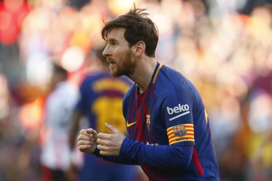 Lionel Messi anotó y bailó frente a su público. (Foto: AFP)