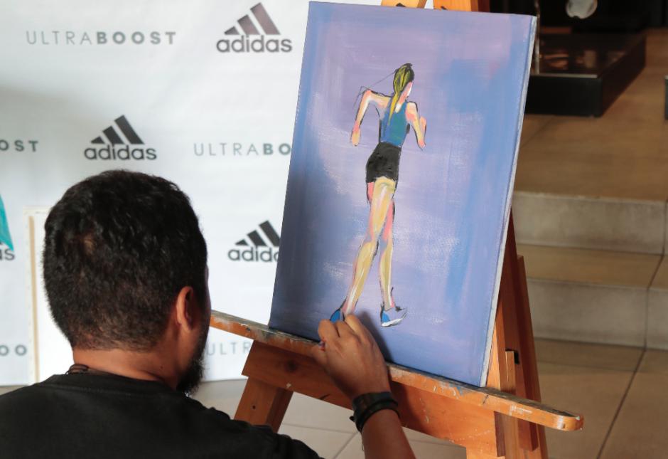 Adidas Cayalá llevó a cabo una actividad para presentar el nuevo calzado nuevo calzado UltraBoost X. (Foto: Alejandro Balán/Soy502)