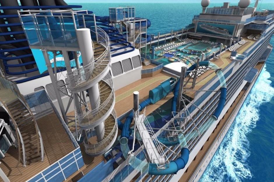 La embarcación cuenta con piscinas y toboganes. (Foto: crucerospromo.es)