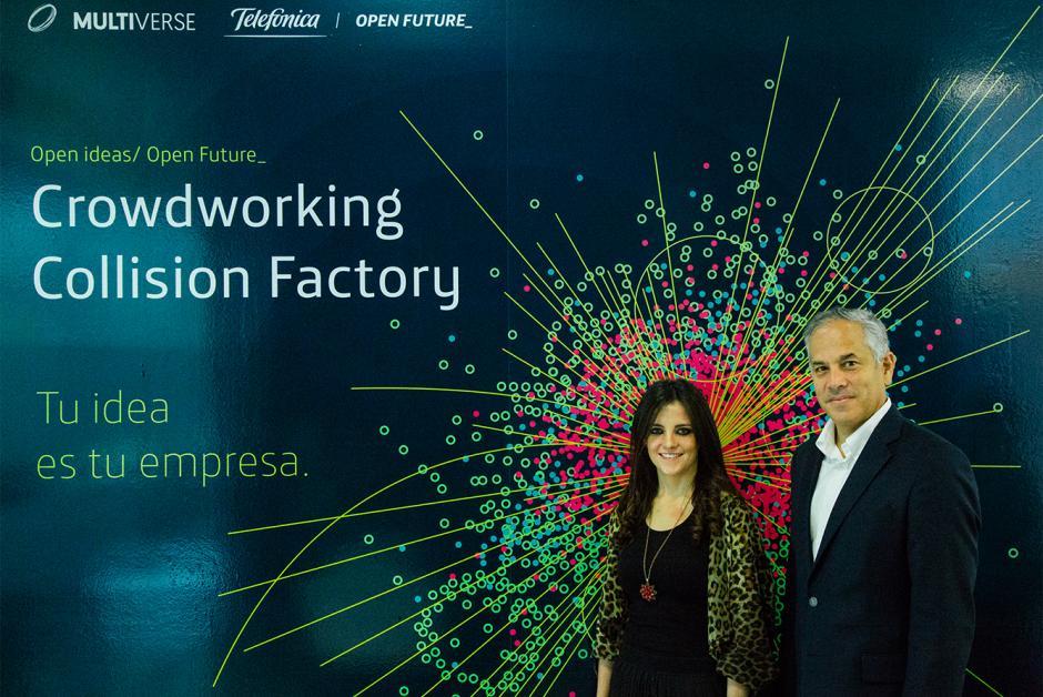 Representantes de Multiverse y Telefónica abren la primera convocatoria para startups. (Foto: coertesía Burson-Marsteller)