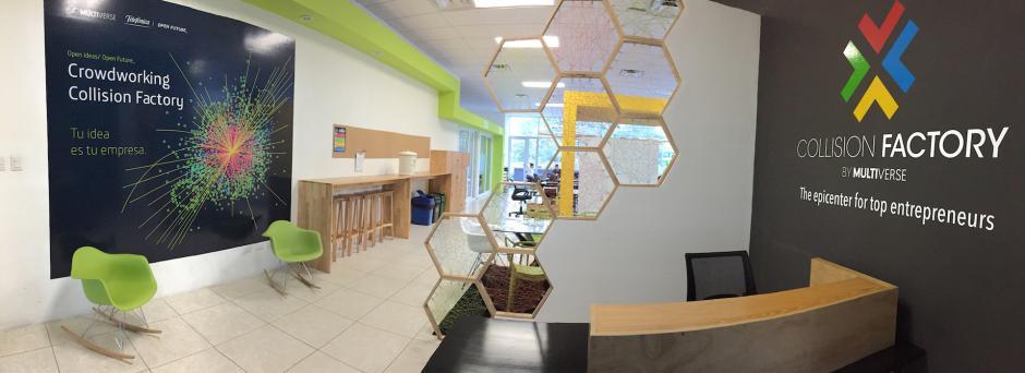 Collision Factory es el lugar donde los emprendedores pueden desarrollar sus proyectos. (Foto: coertesía Burson-Marsteller)