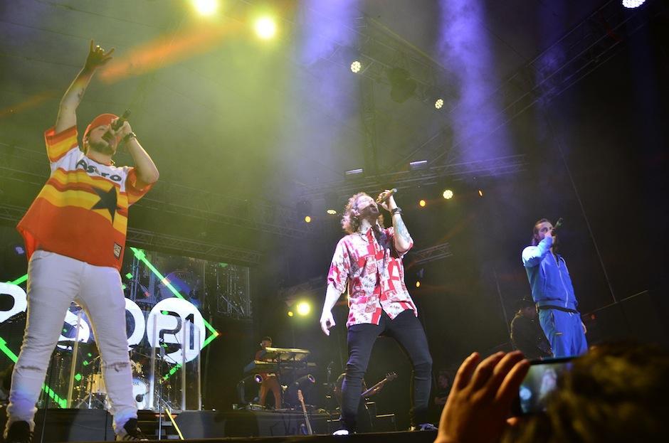 La agrupación colombiana mostró su talento. (Foto: Selene Mejía/Soy502)