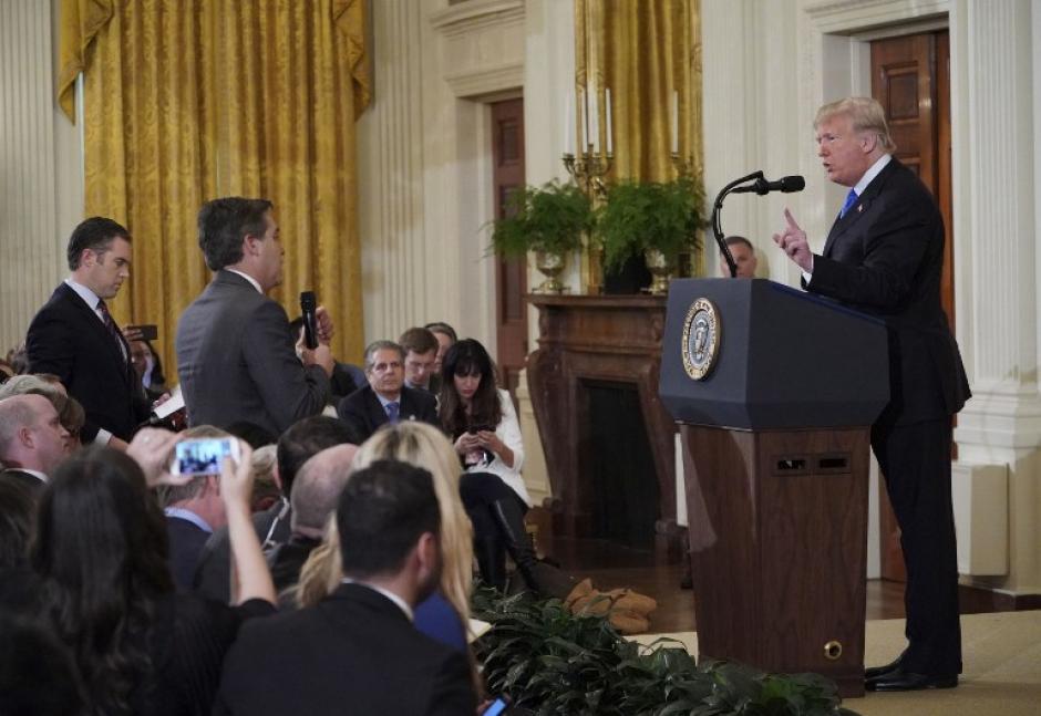 El presidente de Estados Unidos ofreció su primera conferencia luego del martes de Elecciones. (Foto: AFP)