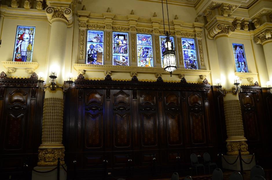 Cada pieza dentro del Palacio Nacional es una obra de arte.  (Foto: Selene Mejía/Soy502)