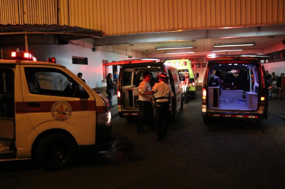 Los bomberos Voluntarios atendieron a los heridos. (Foto: Bomberos Voluntarios)