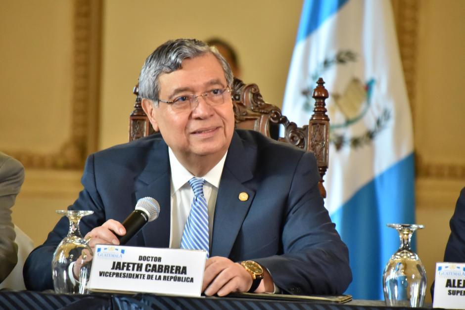 El vicepresidente Jafeth Cabrera presidió el Gabinete Económico del gobierno. (Foto: Archivo/Soy502)