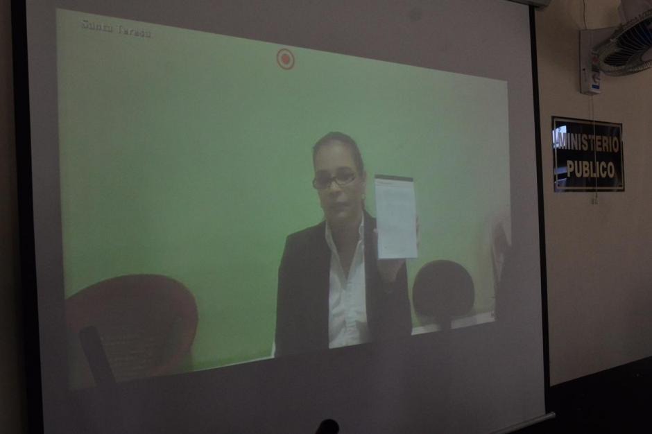 Roxana Baldetti realizó su declaración por medio de videoconferencia. (Foto: Jesús Alfonso/Soy502)