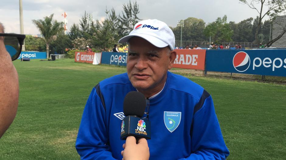 Walter Claverí está fijo al frente de la Selección de fútbol de Guatemala. (Foto: Luis Barrios/Soy502)