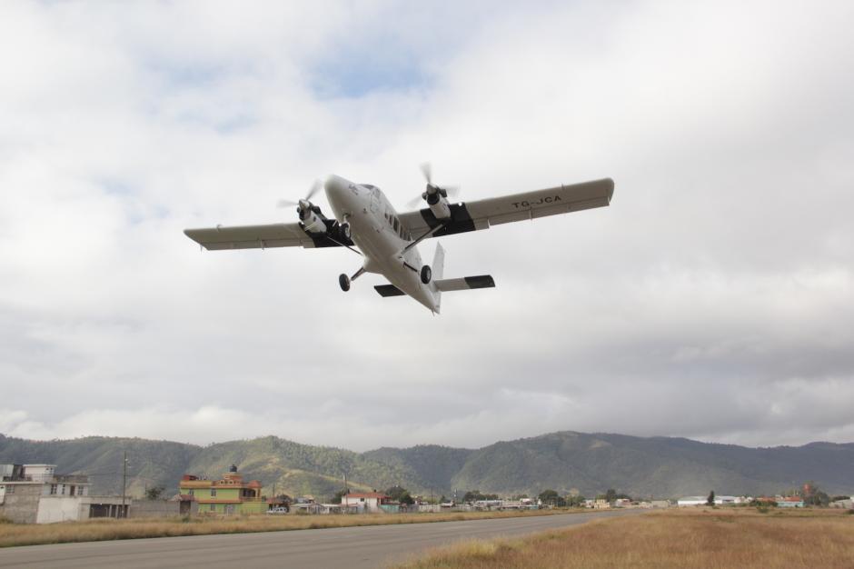 El vuelo reduce el tiempo para viajar entre Huehuetenango y la capital. (Foto: Fredy Hernández/Soy502)