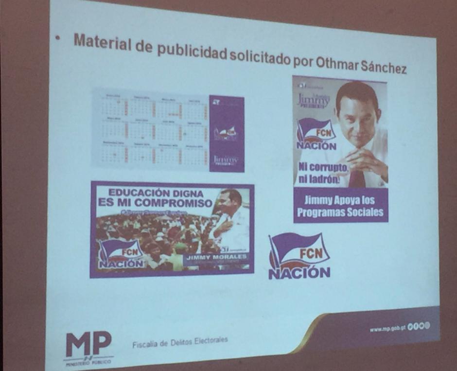 La propaganda por la que el MP solicita el retiro de la inmunidad de Morales aún se debe a la empresa proveedora. (Foto: José Miguel Castañeda/Soy502)
