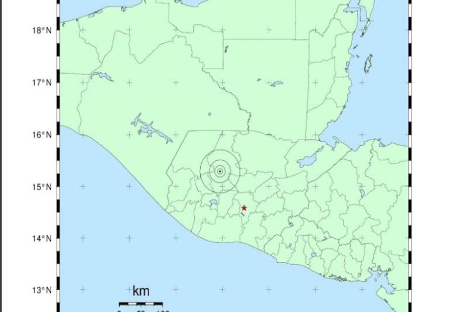 El sismo tuvo su epicentro en el departamento del Quiché. (Imagen: captura de pantalla)