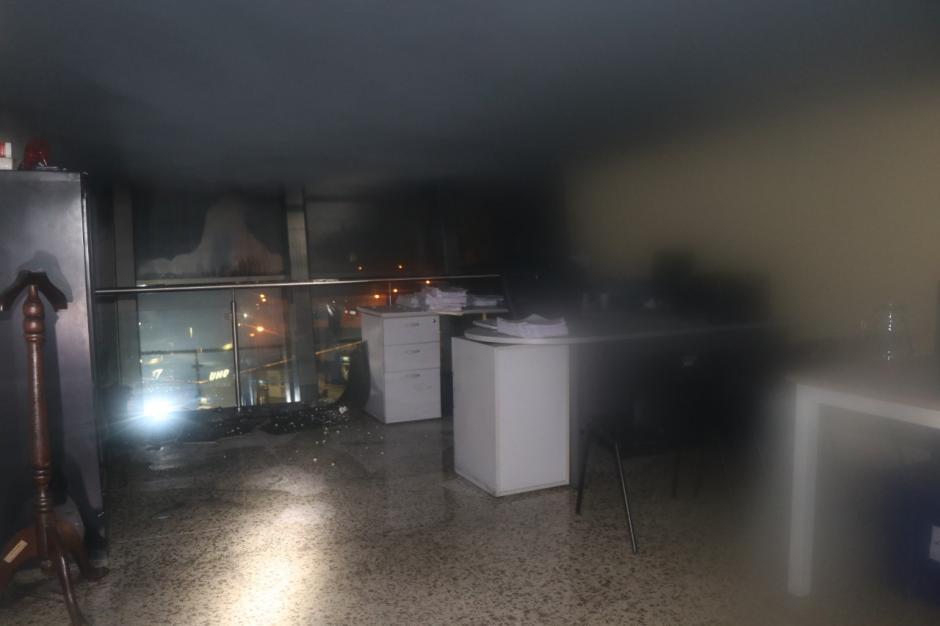 El incendio en el edificio de la SAT ocurrió el 4 de octubre. (Foto: Bomberos Municipales)